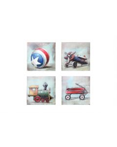 Child's Toys Collection - Metal Wall Art