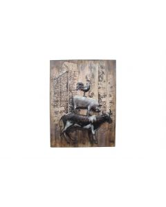Farmyard Animals - Metal Wall Art
