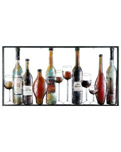 Wine Bar Collage - Metal Wall Art