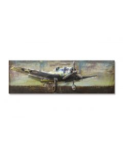 Propeller Plane - Metal Wall Art