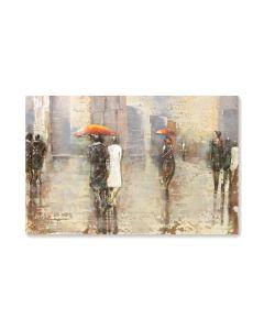 Rainy City - Metal Wall Art
