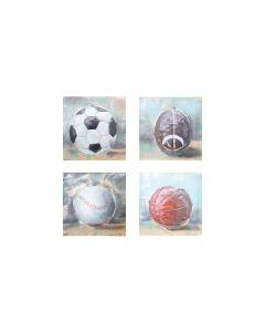 Ball Sports Collection - Metal Wall Art