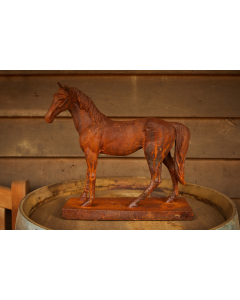 Cast Iron Miniature Horse Statue - Rust