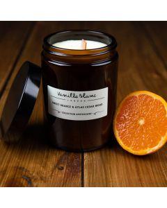 Vanilla Blanc Sweet Orange & Atlas Cedar Wood Coconut Wax Candle 170ml