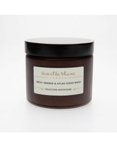 Vanilla Blanc Sweet Orange & Atlas Cedar Wood Coconut Wax Candle 250ml