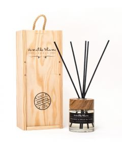 Vanilla Blanc Bergamot & Huile de Ylang (Oil of Ylang) Natural Reed Diffuser in Gift Box