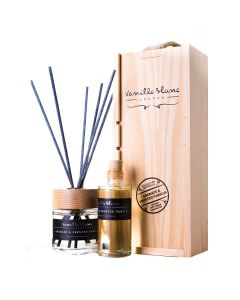 Vanilla Blanc Grenade & Frosted Vanilla (Pomegranate) Natural Reed Diffuser with refill in Gift Box