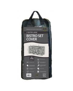 2 Seater Large Bistro Set Cover Black