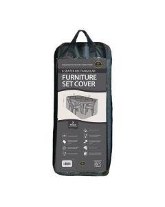 6 Seater Rectangular Furniture Set Cover Black
