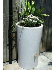 180L Garden Planter Water Butt White Marble