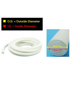 White Extension Hose (25mm/20mm)