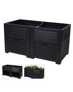 High Planting Bed with Storage - Ideal For Balconies