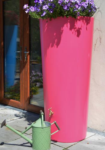 380L Garden Planter Water Butt Pink with Tap Kit & Diverter