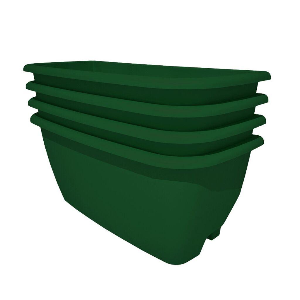 Rainwater Terrace 4 Pack Planter Kit - Dark Green (4 Planter