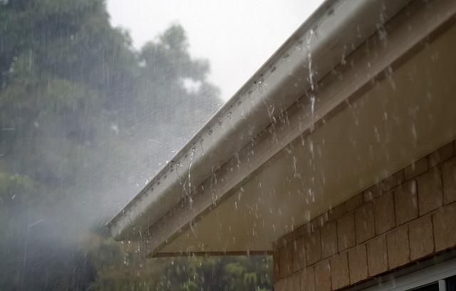 rain off a roof
