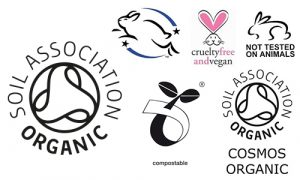 image of soil association and cruelty free logos