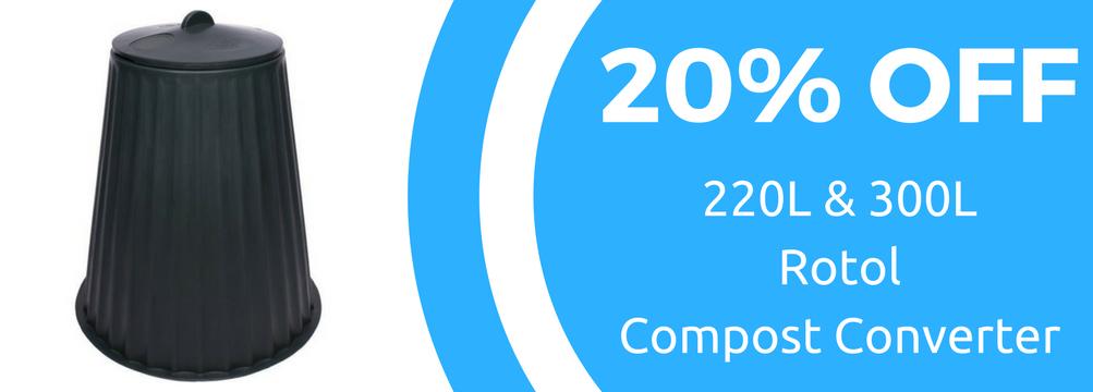 20% off Rotol Compost Converter