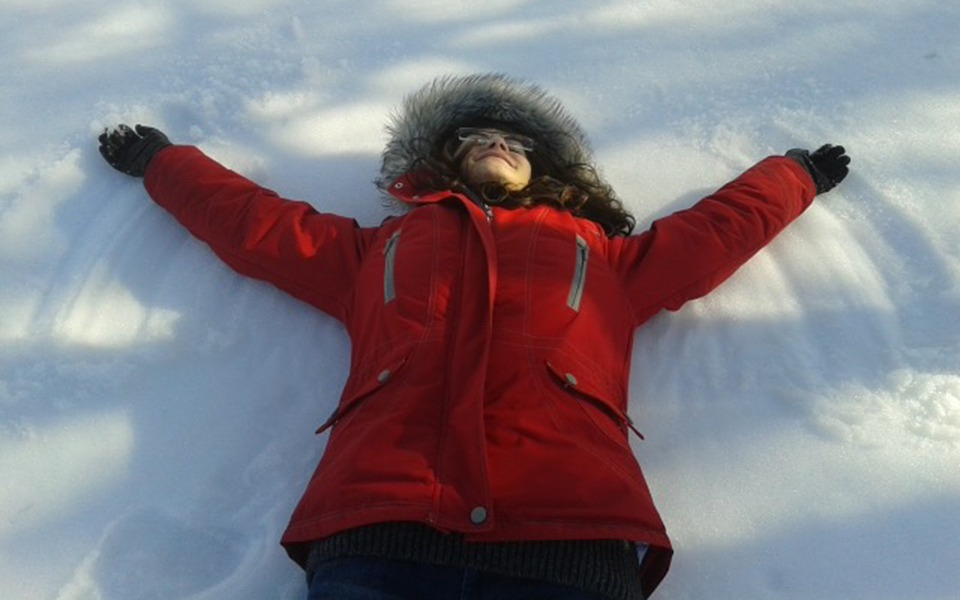 garden snow angels