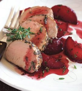 image of pork and plums