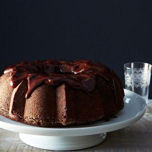 image of chocolate cake with glazing