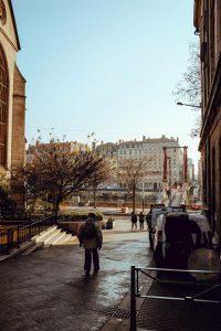 image of people walking city