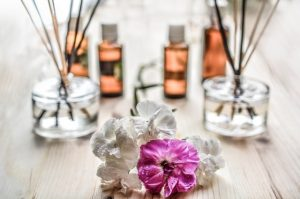image of diffusers and flowers