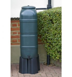 image of slimline space saver green water butt